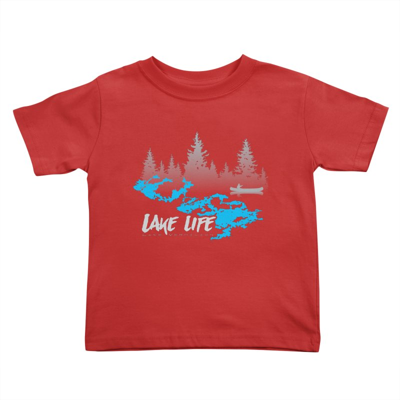Lake Vermilion | Lake Life | Light Lettering Kids Toddler T-Shirt by Your Lake Apparel & Accessories