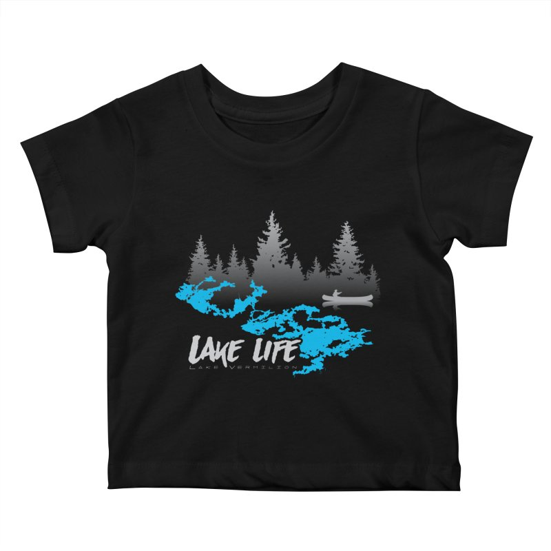Lake Vermilion   Lake Life   Light Lettering Kids Baby T-Shirt by Your Lake Apparel & Accessories