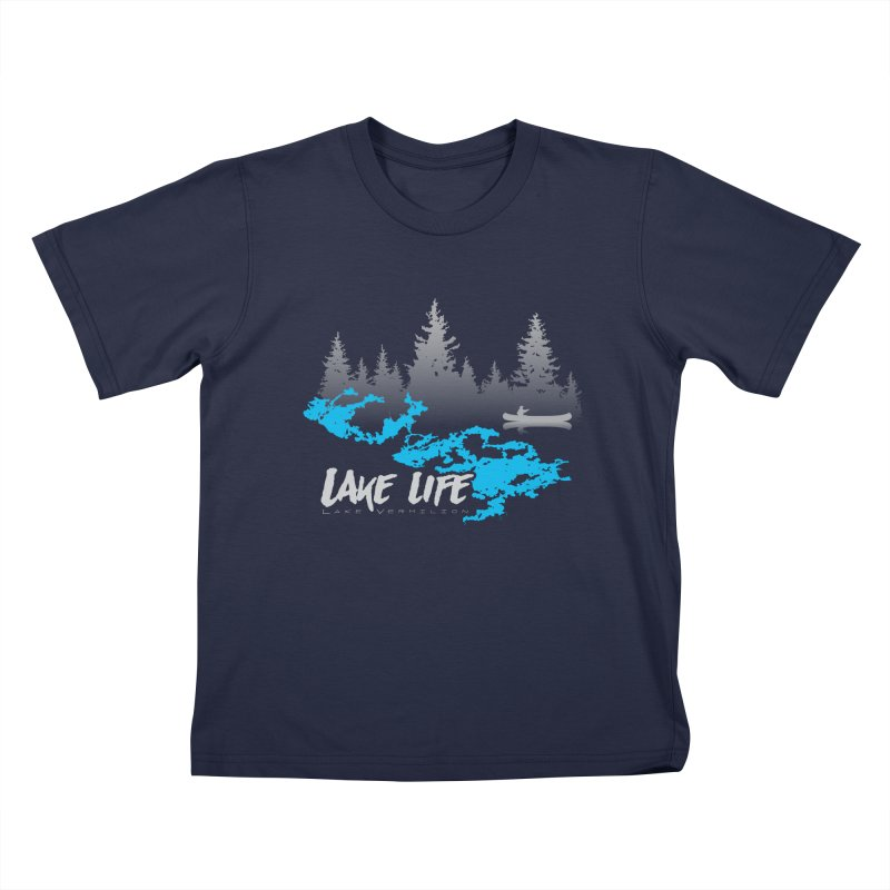 Lake Vermilion   Lake Life   Light Lettering Kids T-Shirt by Your Lake Apparel & Accessories
