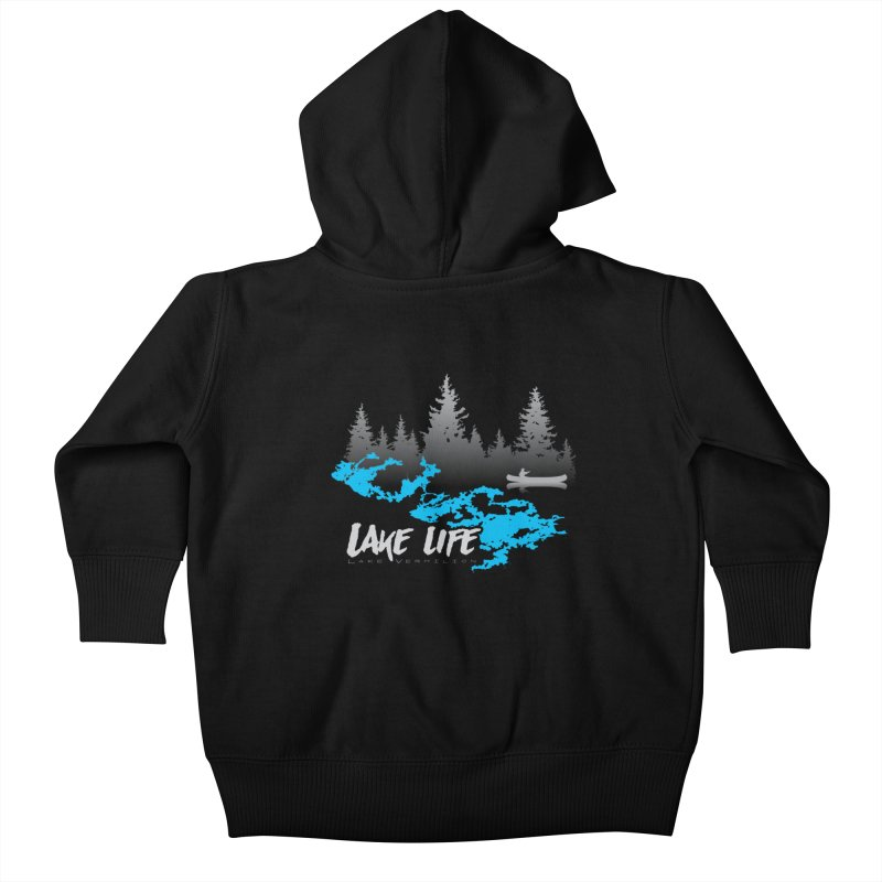 Lake Vermilion   Lake Life   Light Lettering Kids Baby Zip-Up Hoody by Your Lake Apparel & Accessories