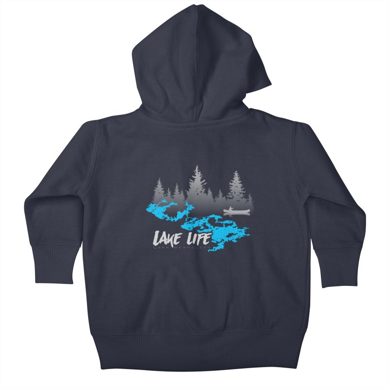 Lake Vermilion | Lake Life | Light Lettering Kids Baby Zip-Up Hoody by Your Lake Apparel & Accessories