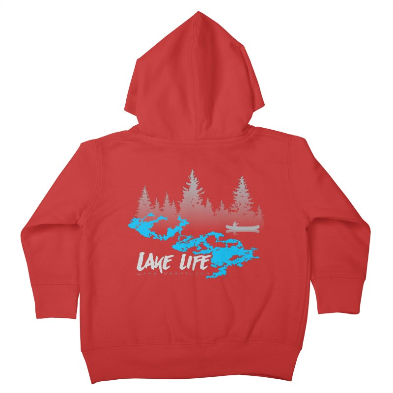 Lake Vermilion | Lake Life | Light Lettering Kids Toddler Zip-Up Hoody by Your Lake Apparel & Accessories