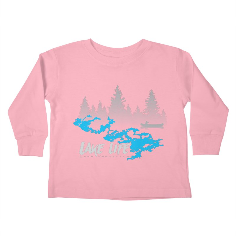 Lake Vermilion | Lake Life | Light Lettering Kids Toddler Longsleeve T-Shirt by Your Lake Apparel & Accessories