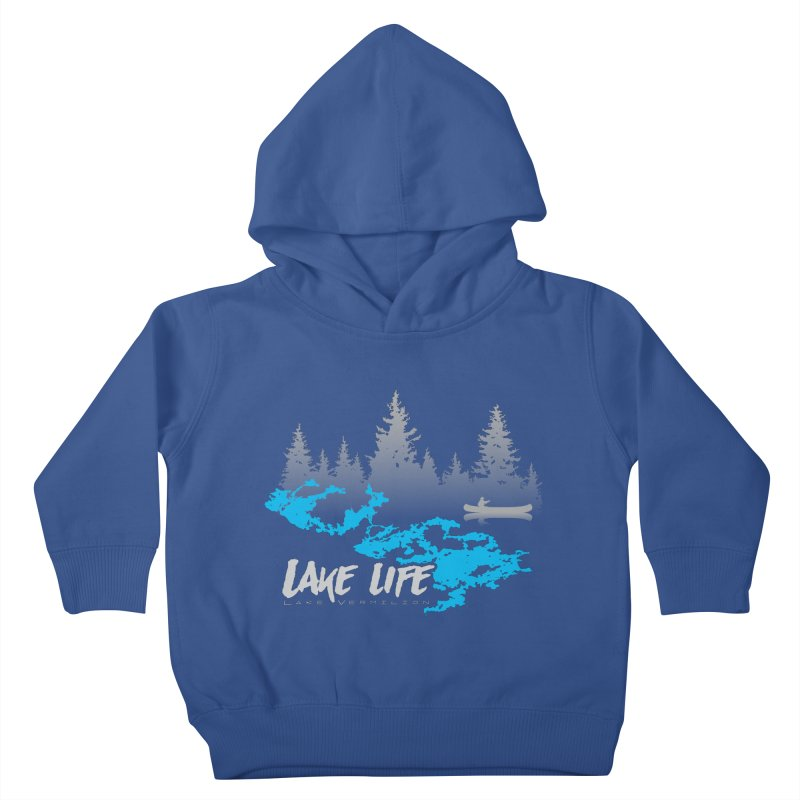 Lake Vermilion   Lake Life   Light Lettering Kids Toddler Pullover Hoody by Your Lake Apparel & Accessories