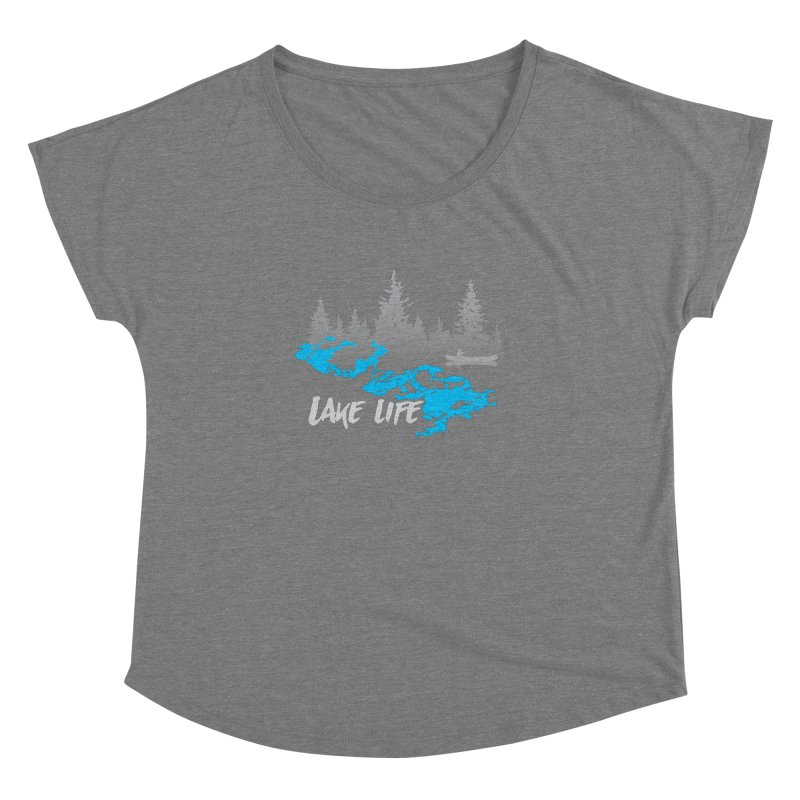Lake Vermilion   Lake Life   Light Lettering Women's Dolman Scoop Neck by Your Lake Apparel & Accessories