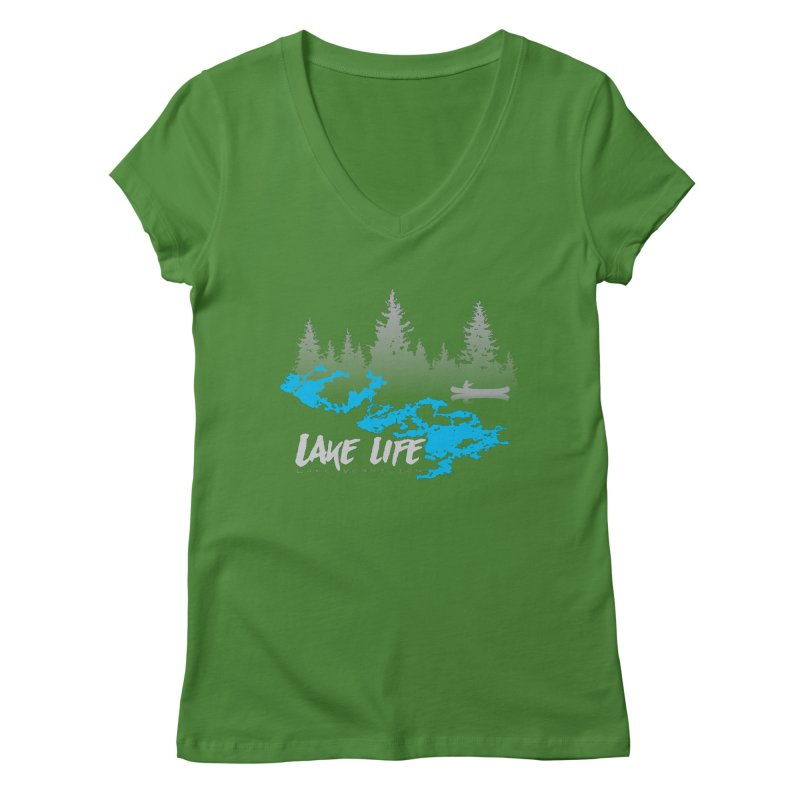 Lake Vermilion | Lake Life | Light Lettering Women's Regular V-Neck by Your Lake Apparel & Accessories