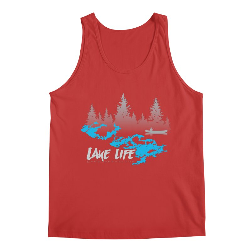 Lake Vermilion | Lake Life | Light Lettering Men's Regular Tank by Your Lake Apparel & Accessories