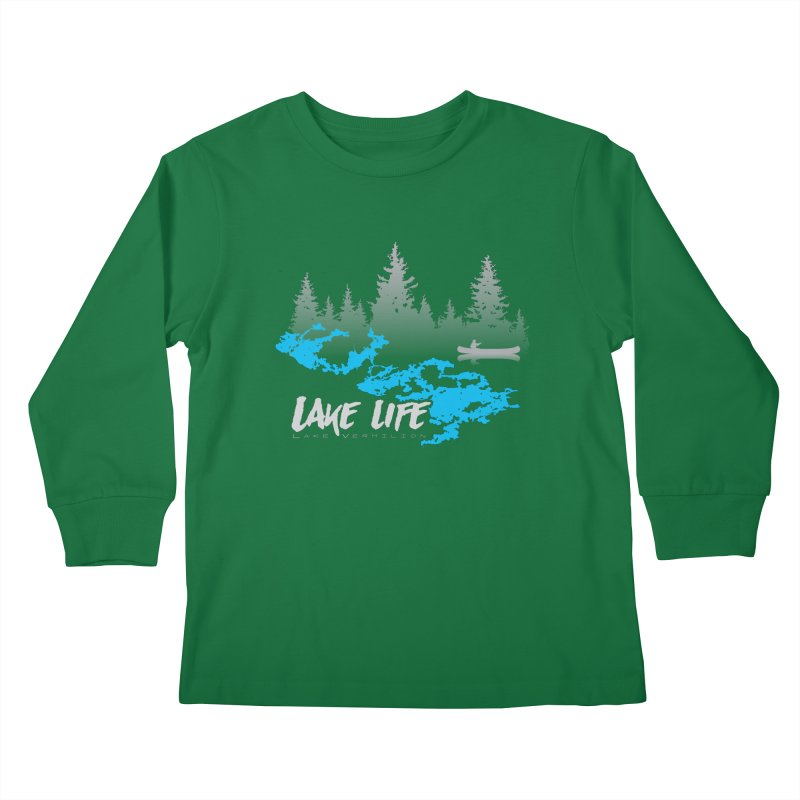 Lake Vermilion | Lake Life | Light Lettering Kids Longsleeve T-Shirt by Your Lake Apparel & Accessories