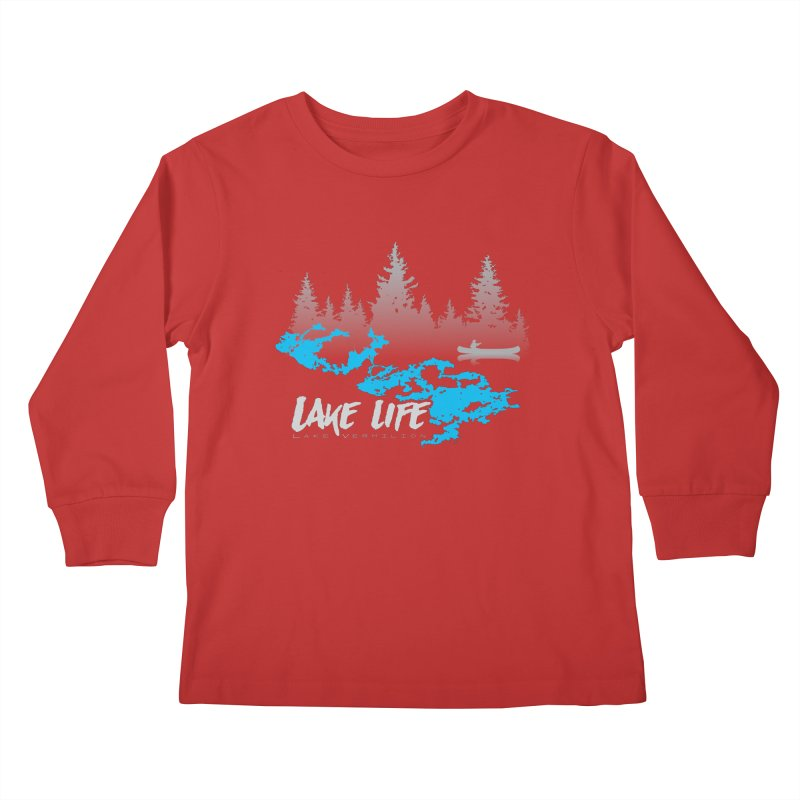 Lake Vermilion   Lake Life   Light Lettering Kids Longsleeve T-Shirt by Your Lake Apparel & Accessories