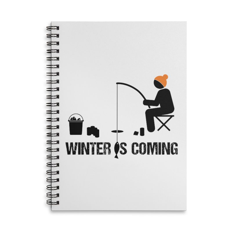 Winter is Coming | Dark Lettering Accessories Lined Spiral Notebook by Your Lake Apparel & Accessories