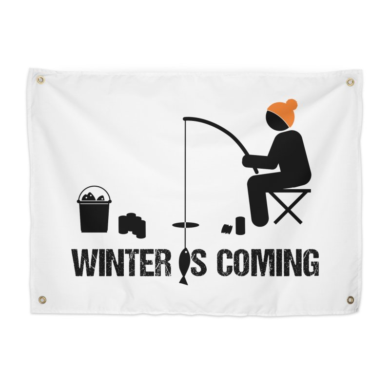 Winter is Coming | Dark Lettering Home Tapestry by Your Lake Apparel & Accessories