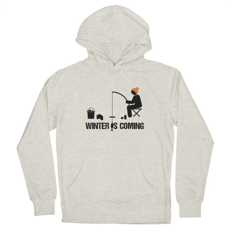 Winter is Coming | Dark Lettering Men's French Terry Pullover Hoody by Your Lake Apparel & Accessories