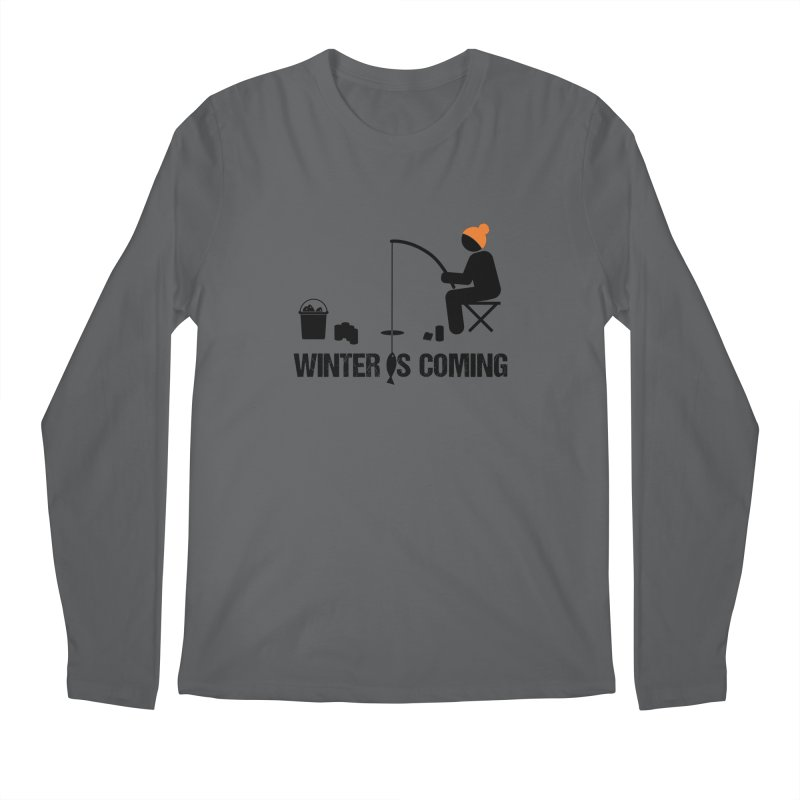 Winter is Coming | Dark Lettering Men's Regular Longsleeve T-Shirt by Your Lake Apparel & Accessories