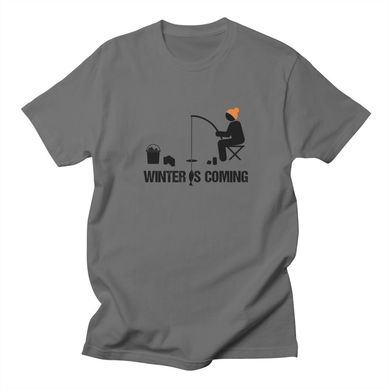Winter is Coming | Dark Lettering Women's Regular Unisex T-Shirt by Your Lake Apparel & Accessories