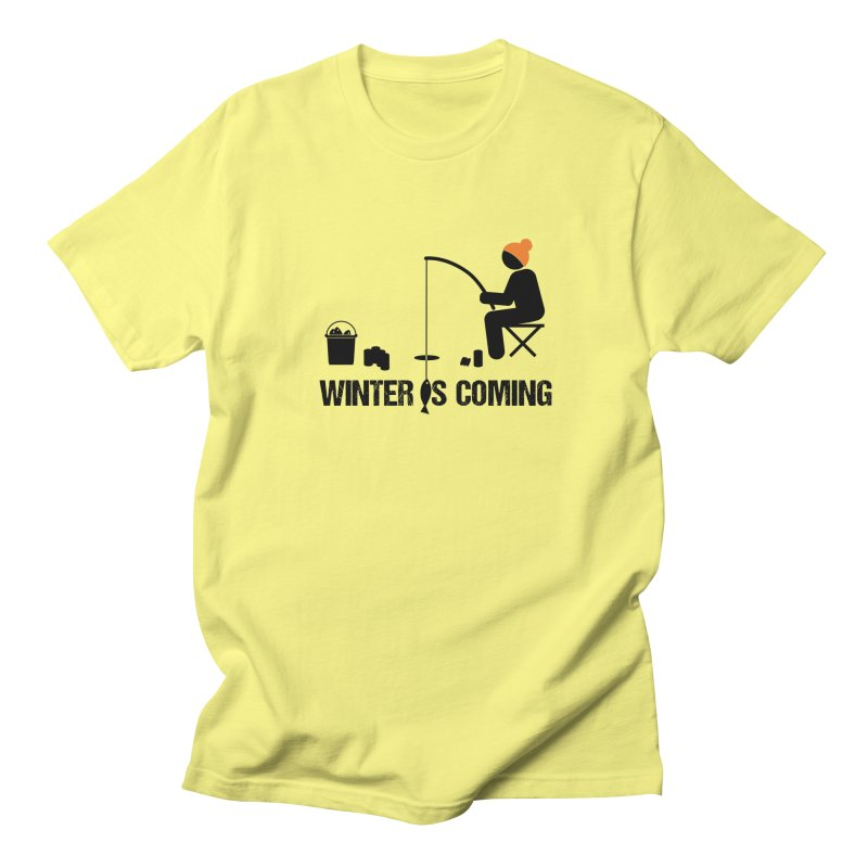 Winter is Coming | Dark Lettering Men's Regular T-Shirt by Your Lake Apparel & Accessories