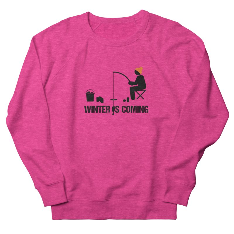 Winter is Coming | Dark Lettering Men's French Terry Sweatshirt by Your Lake Apparel & Accessories