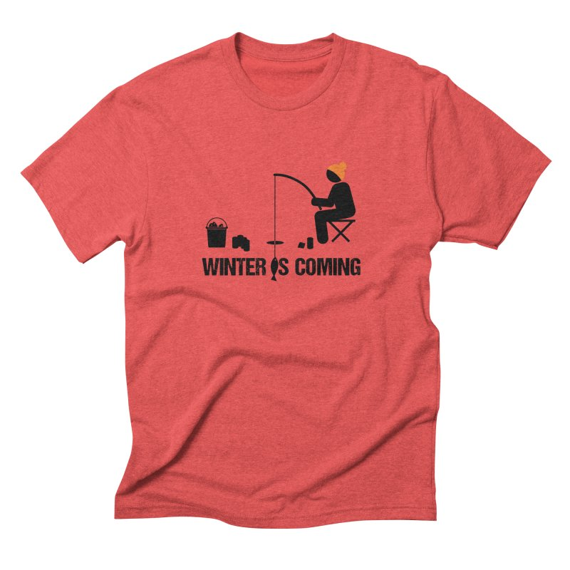 Winter is Coming   Dark Lettering Men's Triblend T-Shirt by Your Lake Apparel & Accessories