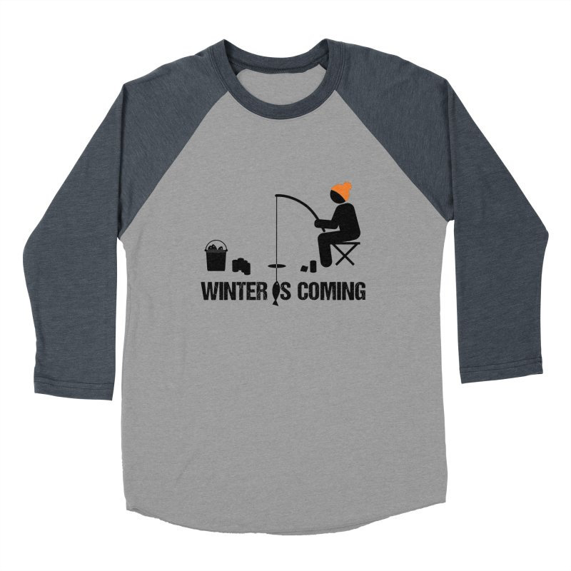 Winter is Coming | Dark Lettering Women's Baseball Triblend Longsleeve T-Shirt by Your Lake Apparel & Accessories