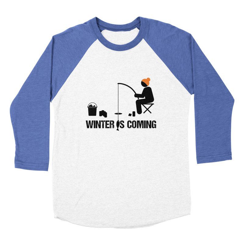 Winter is Coming | Dark Lettering Men's Baseball Triblend Longsleeve T-Shirt by Your Lake Apparel & Accessories