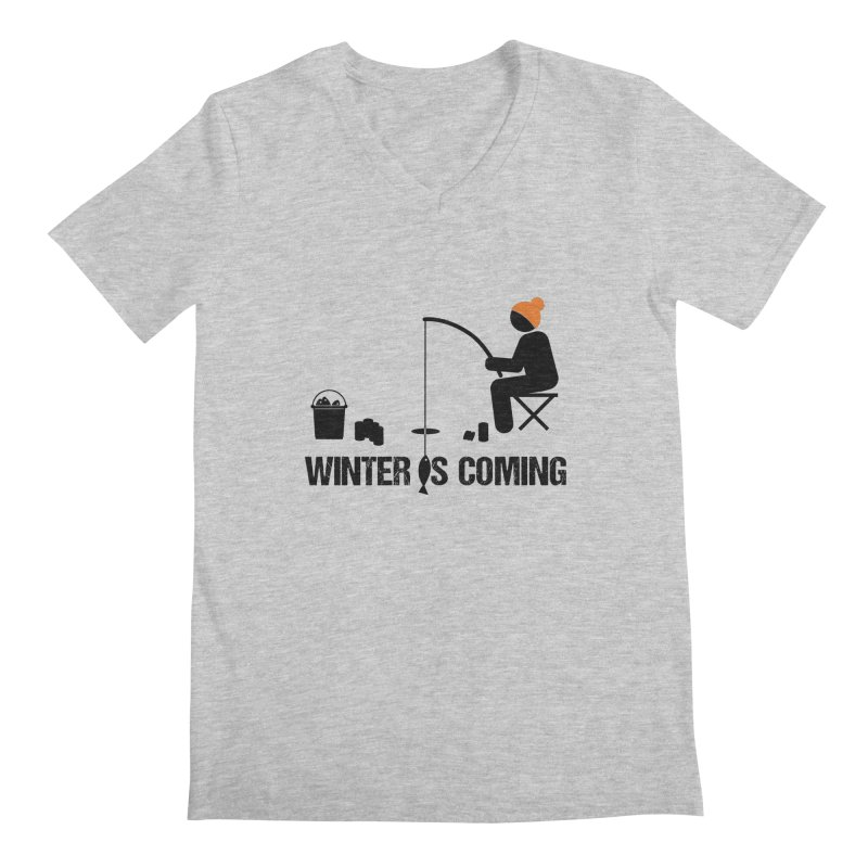 Winter is Coming | Dark Lettering Men's Regular V-Neck by Your Lake Apparel & Accessories