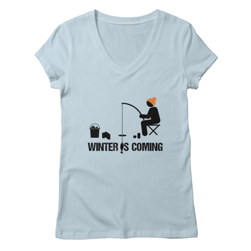 Winter is Coming | Dark Lettering Women's Regular V-Neck by Your Lake Apparel & Accessories