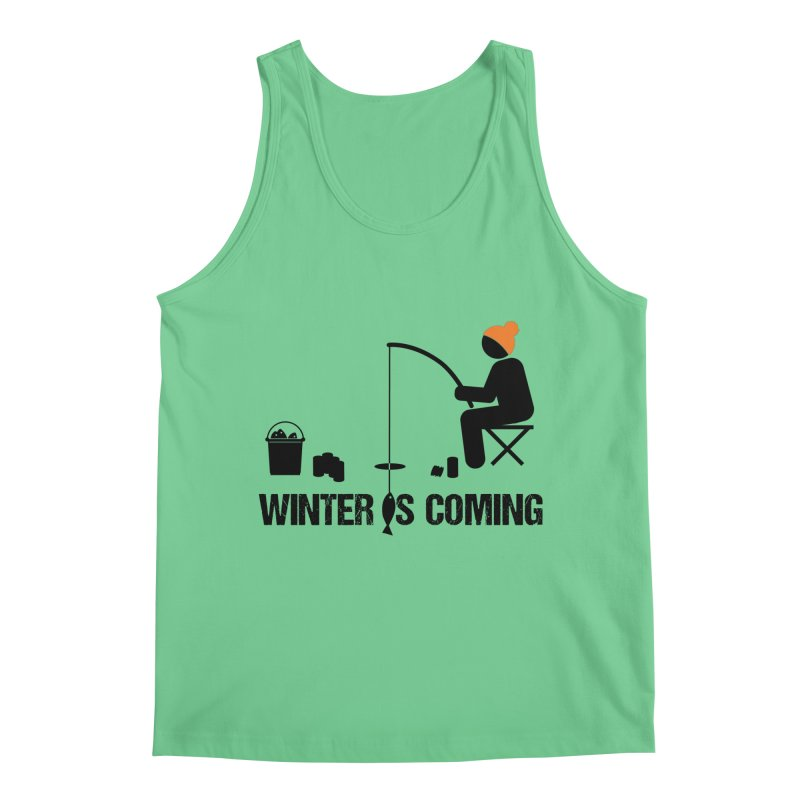 Winter is Coming | Dark Lettering Men's Regular Tank by Your Lake Apparel & Accessories