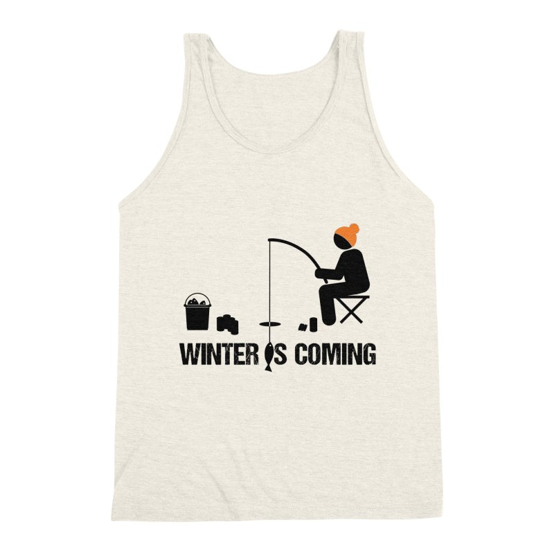 Winter is Coming | Dark Lettering Men's Triblend Tank by Your Lake Apparel & Accessories