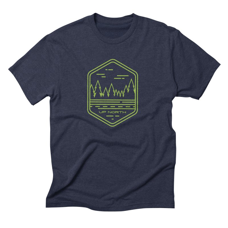 Up North Men's Triblend T-Shirt by Your Lake Apparel & Accessories