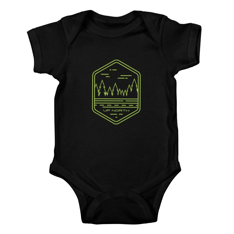 Up North Kids Baby Bodysuit by Your Lake Apparel & Accessories