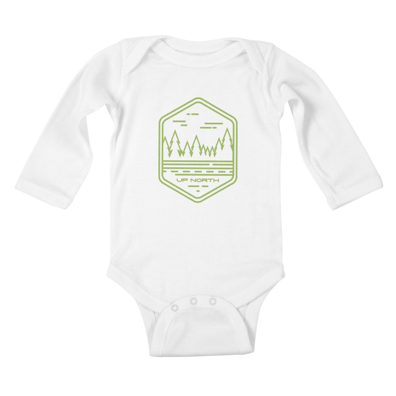 Up North Kids Baby Longsleeve Bodysuit by Your Lake Apparel & Accessories