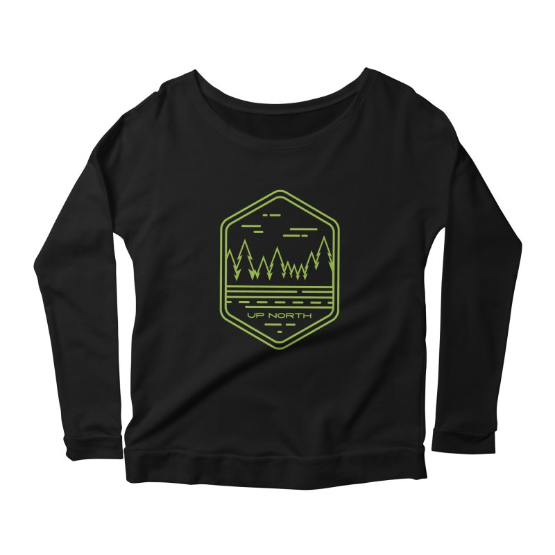 Up North Women's Scoop Neck Longsleeve T-Shirt by Your Lake Apparel & Accessories