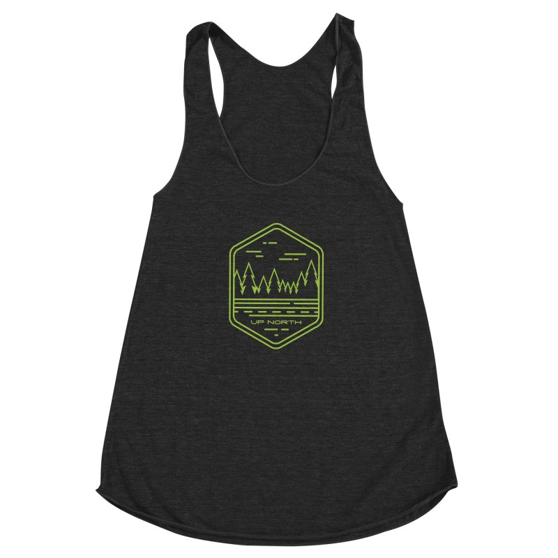 Up North Women's Racerback Triblend Tank by Your Lake Apparel & Accessories