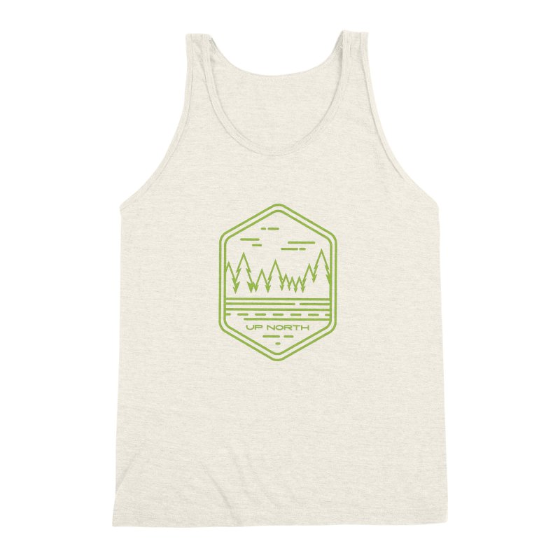 Up North Men's Triblend Tank by Your Lake Apparel & Accessories