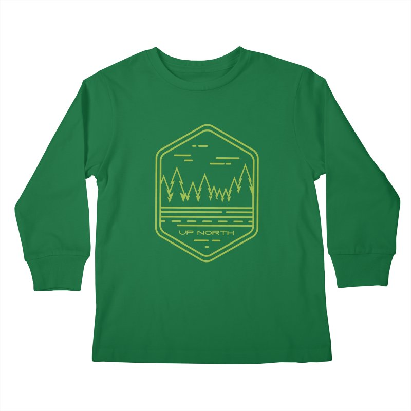 Up North Kids Longsleeve T-Shirt by Your Lake Apparel & Accessories
