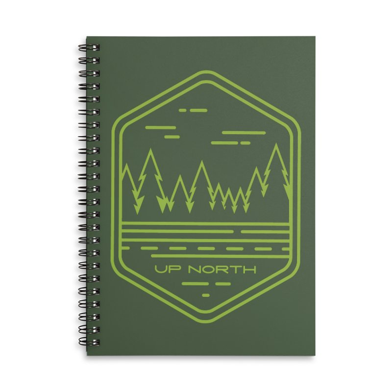 Up North Accessories Lined Spiral Notebook by Your Lake Apparel & Accessories