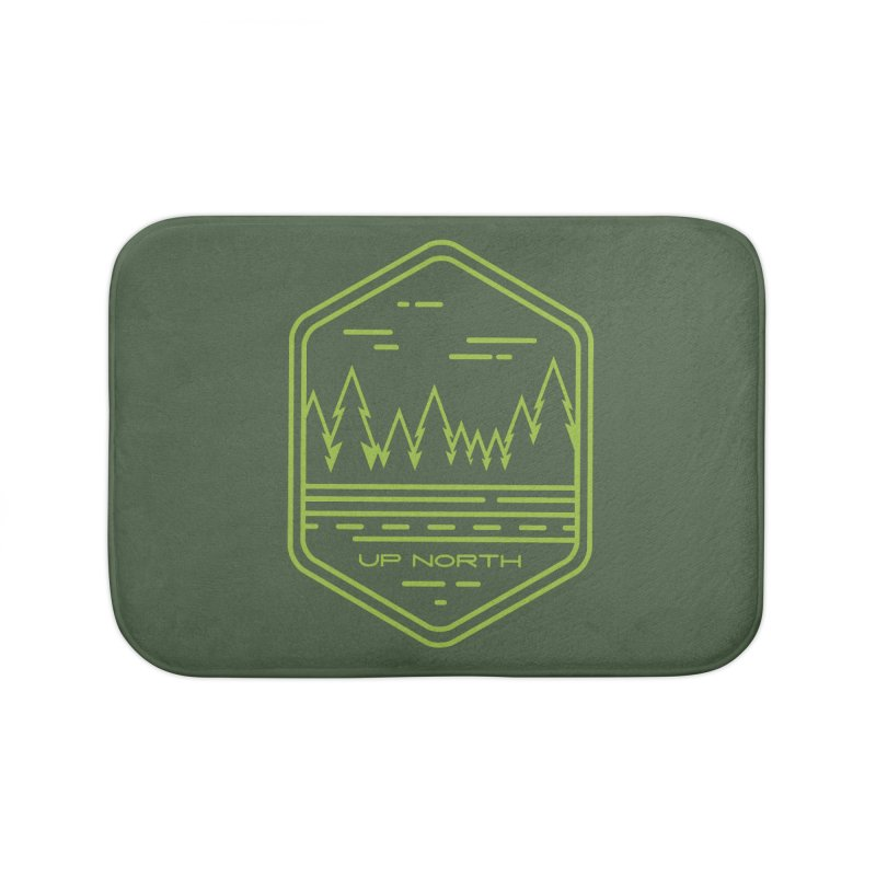 Up North Home Bath Mat by Your Lake Apparel & Accessories