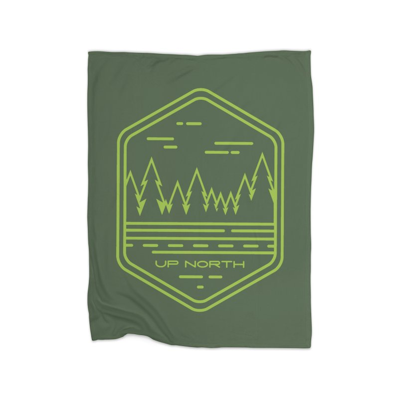 Up North Home Fleece Blanket Blanket by Your Lake Apparel & Accessories