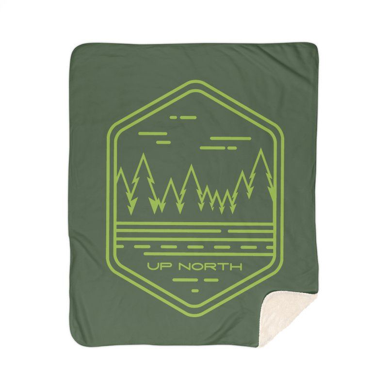 Up North Home Sherpa Blanket Blanket by Your Lake Apparel & Accessories