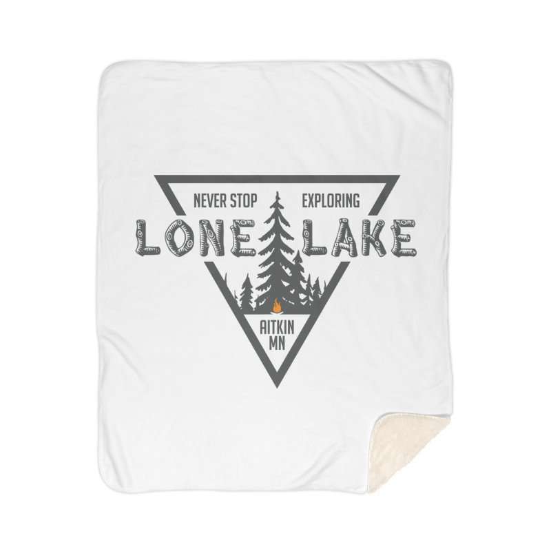 Lone Lake Home Sherpa Blanket Blanket by Your Lake Apparel & Accessories