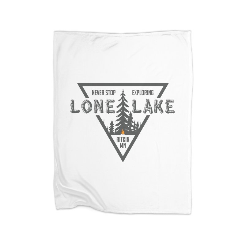 Lone Lake Home Fleece Blanket Blanket by Your Lake Apparel & Accessories