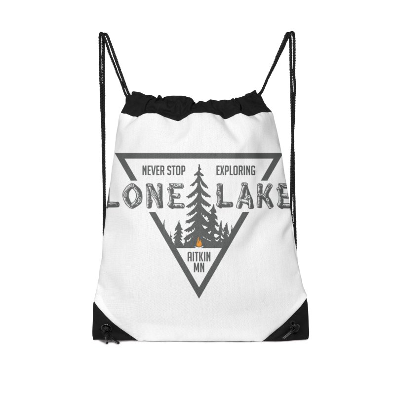Lone Lake Accessories Drawstring Bag Bag by Your Lake Apparel & Accessories