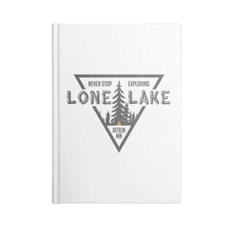 Lone Lake Accessories Blank Journal Notebook by Your Lake Apparel & Accessories