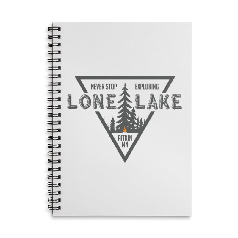 Lone Lake Accessories Lined Spiral Notebook by Your Lake Apparel & Accessories