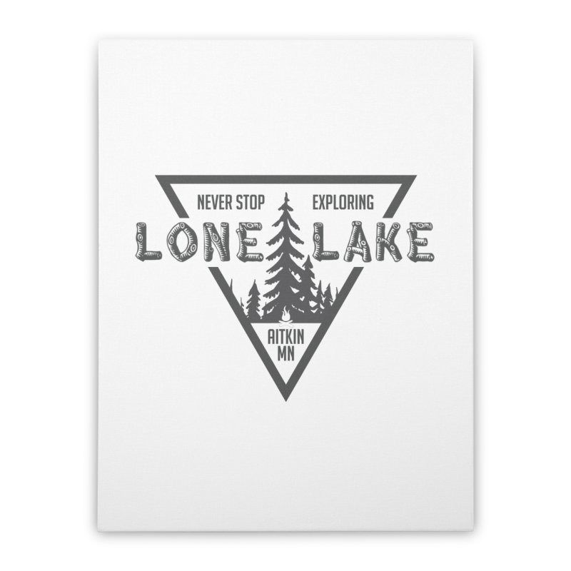 Lone Lake Home Stretched Canvas by Your Lake Apparel & Accessories