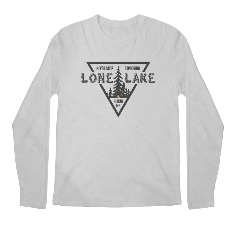 Lone Lake Men's Regular Longsleeve T-Shirt by Your Lake Apparel & Accessories