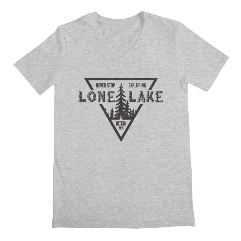Lone Lake Men's Regular V-Neck by Your Lake Apparel & Accessories