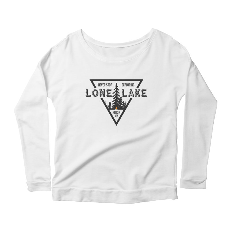 Lone Lake Women's Scoop Neck Longsleeve T-Shirt by Your Lake Apparel & Accessories