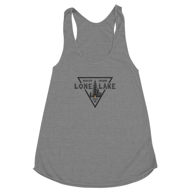 Lone Lake Women's Racerback Triblend Tank by Your Lake Apparel & Accessories