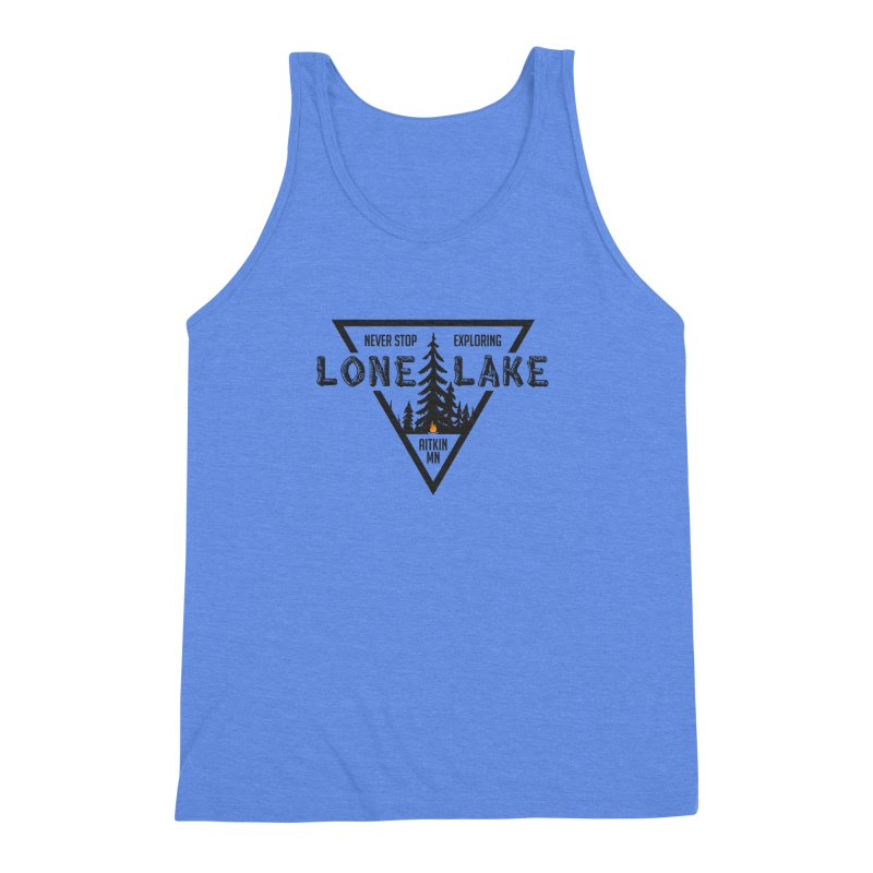 Lone Lake Men's Triblend Tank by Your Lake Apparel & Accessories