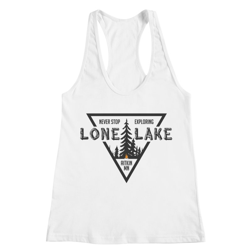 Lone Lake Women's Racerback Tank by Your Lake Apparel & Accessories